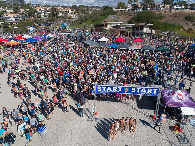 Largest race on sand group photo