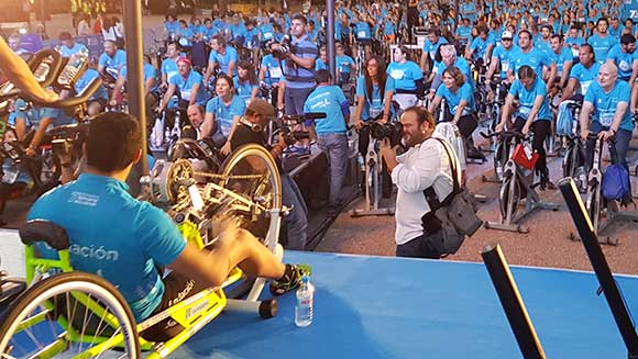 Spanish foundation hosts largest static cycling lesson to promote inclusive sport for people with disabilities