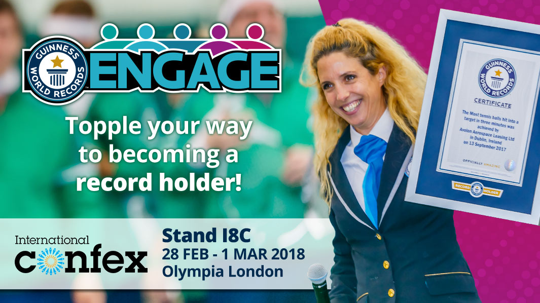 GUINNESS WORLD RECORDS TO SHOWCASE 'ENGAGE' PROGRAMME AT INTERNATIONAL CONFEX