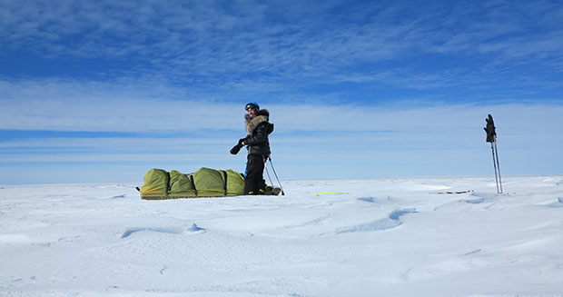 Longest assisted journey across Antarctica on skis (female) Stephanie