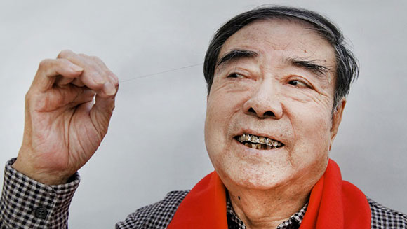 Eighty One Year Old Chinese Man Has Longest Eyebrow Hair In The