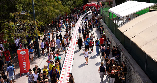 Longest line of hamburgers Spain GWR