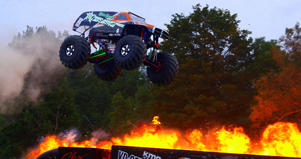 Video: 9 8 metre-long monster truck storms into Guinness