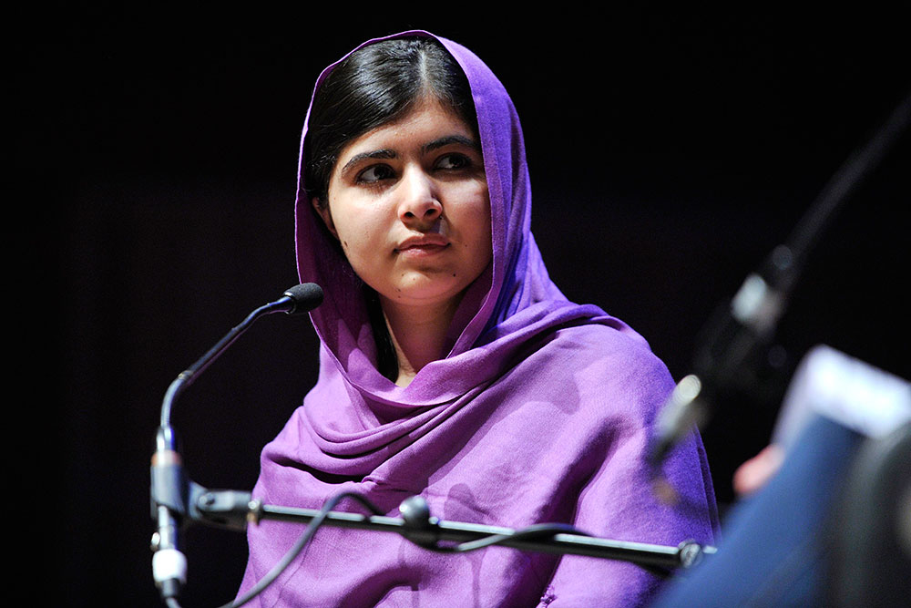 Malala Yousafzai spoke at WOW 2014, at the Southbank Centre in London, UK. ©Southbank Centre