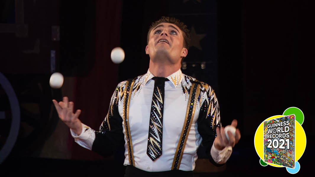 World-class juggler Michael Ferreri holds 15 records