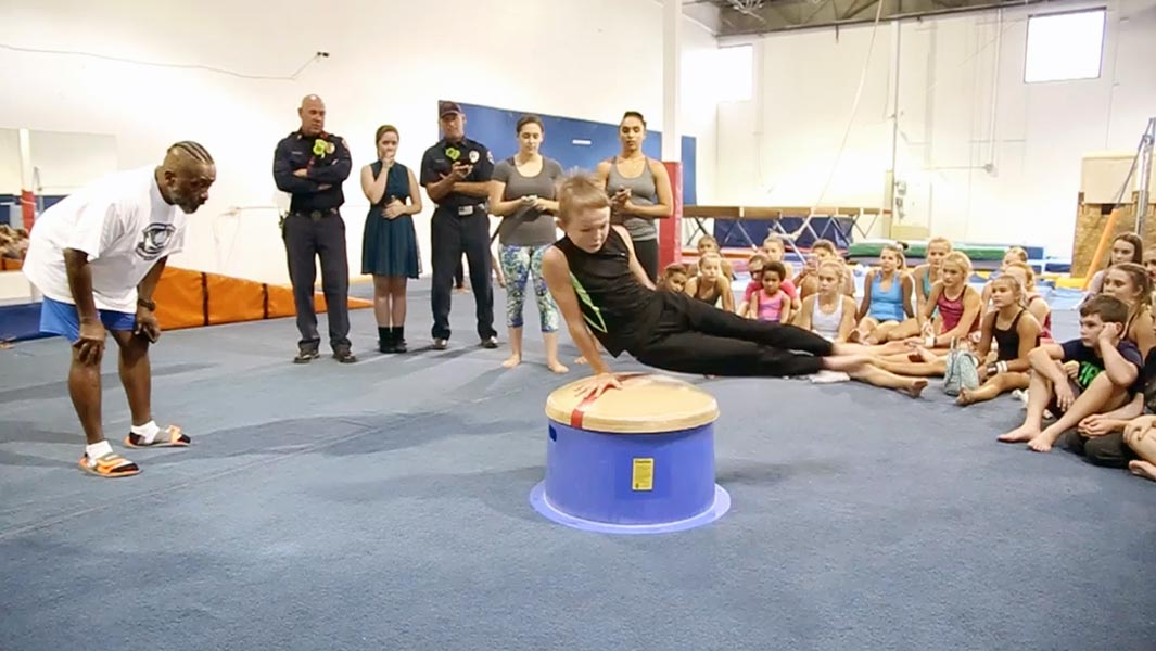 Video: 10-year-old is 'super happy' after breaking intense gymnastics record
