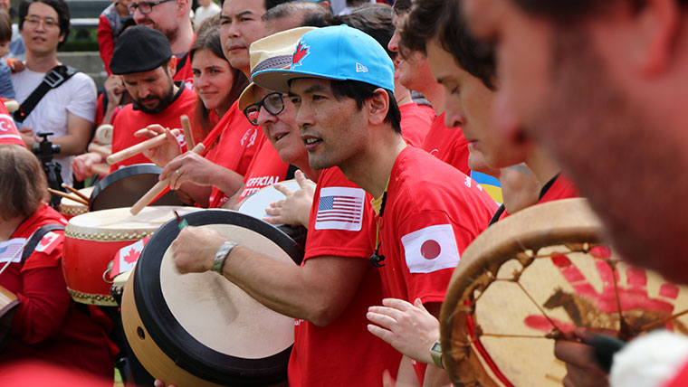 The Most Nationalities in a Drum Circle World Record Title