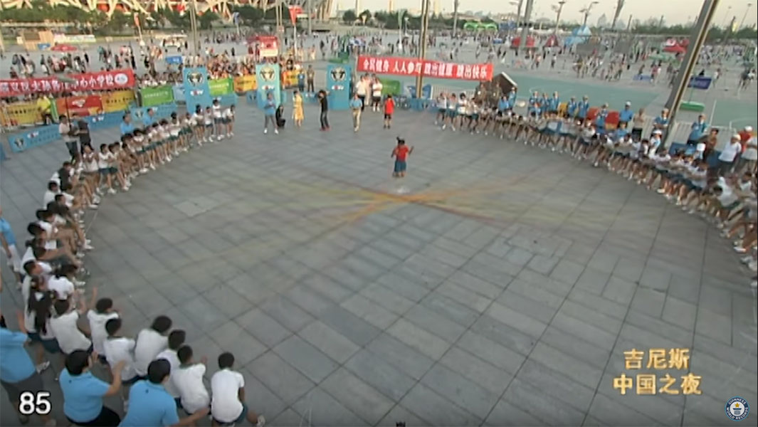 Video Classics: Chinese school girl skips over 110 ropes at once