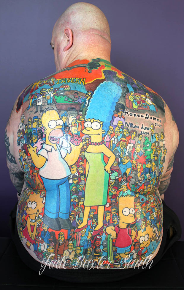 Man with over 200 tattoos of The Simpsons characters confirmed as record holder - final image