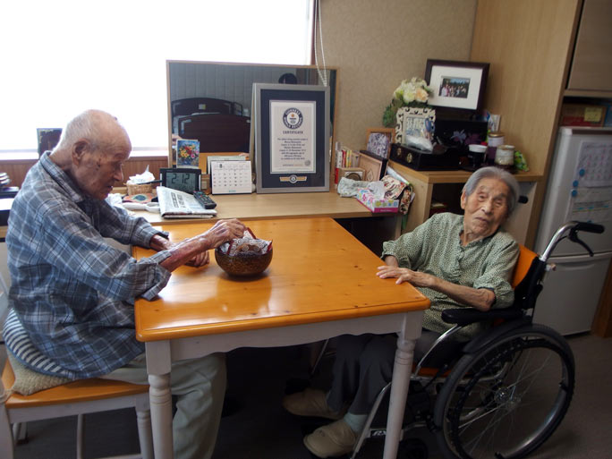 Masao, left, and Miyako, right