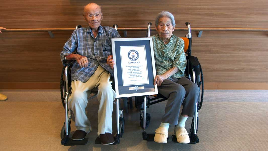 Couple together for 80 years with combined age of 208 set oldest living married couple record
