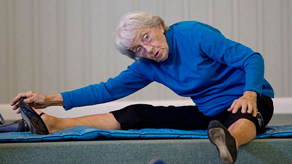Oldest yoga teacher Bernice Bates