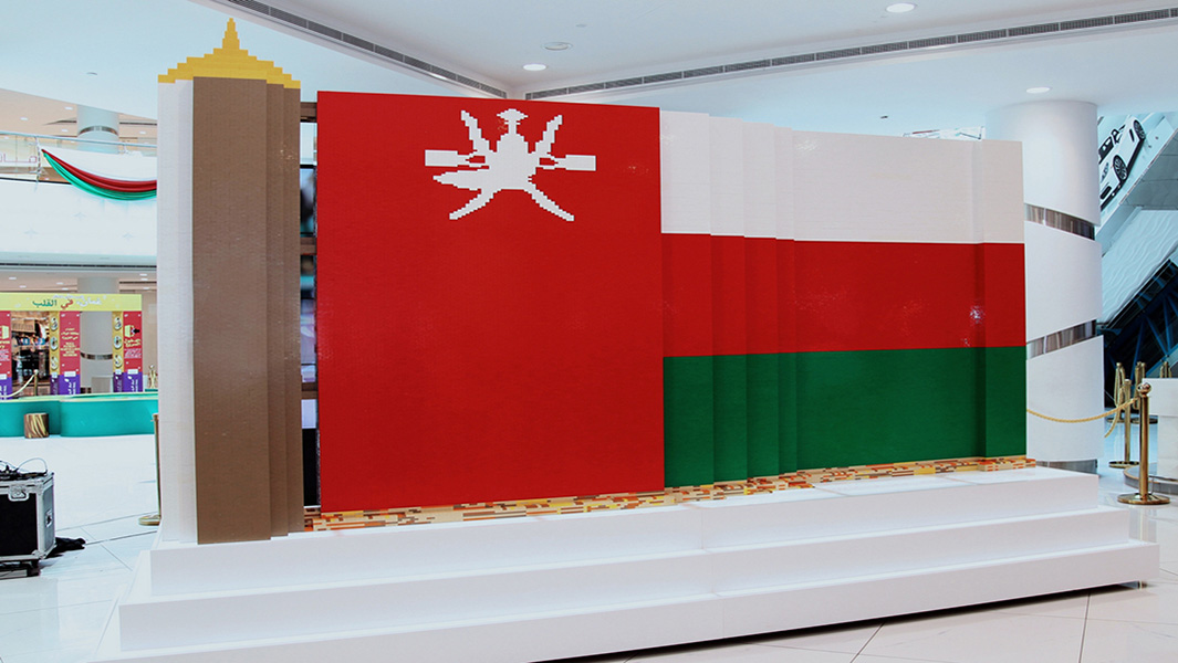 Shopping mall uses 168,000 bricks to create largest LEGO® flag for national celebration