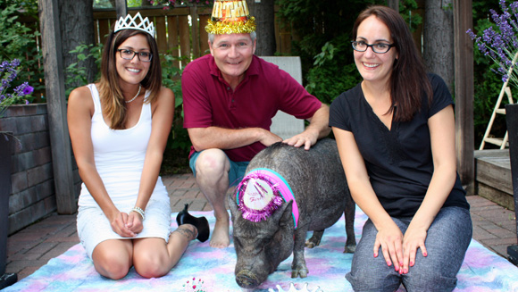 Meet Ernestine, the world's oldest pig