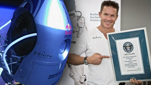 Confirmed: Felix Baumgartner's free fall from space sets five new world records
