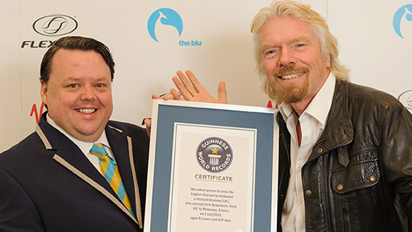Sir Richard Branson's incredible treble makes Guinness World Record 2014 book