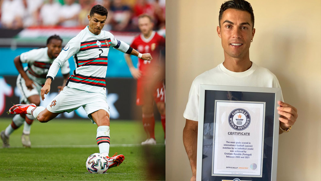 Cristiano Ronaldo breaks iconic record for most goals scored in international matches