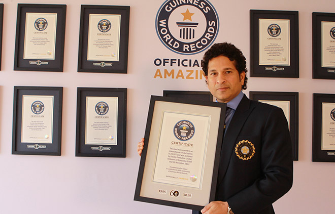 Cricket legend Sachin Tendulkar honoured as part of Guinness World Records 60th anniversary celebrations