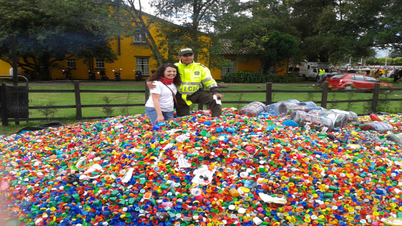 Colombian children's charity raises funds with more than 150K kg of bottle caps