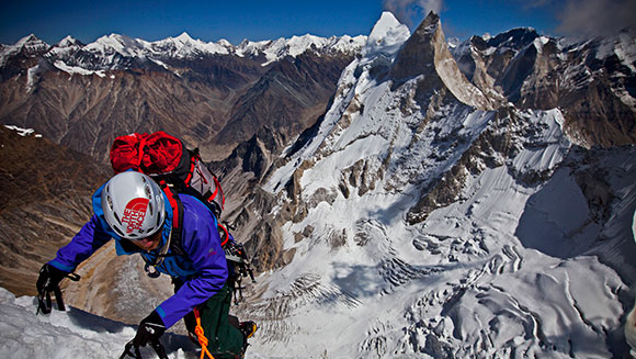 American explorers recognised by Guinness World Records for completing the first ever ascent of Meru Peak Shark's Fin