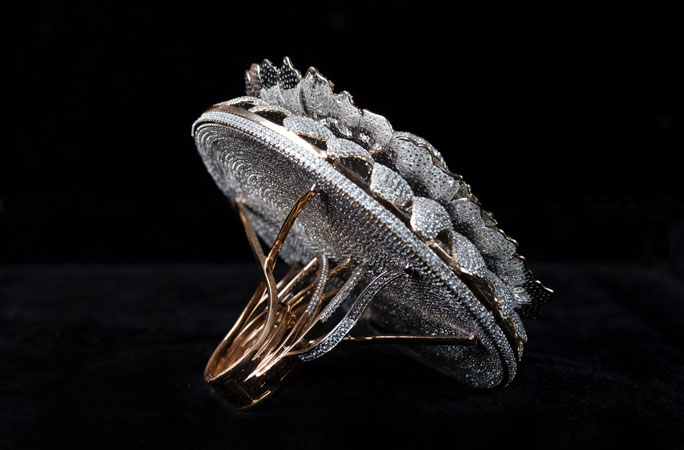 Side behind Most diamonds set in one ring renani jewels