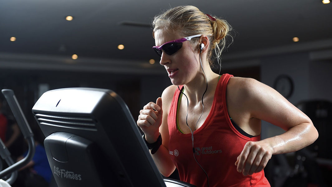 Blind woman from Ireland sets staggering 12-hour treadmill running record
