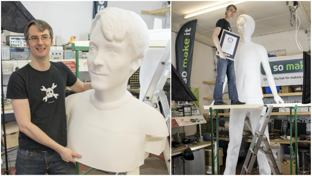 GUINNESS WORLD RECORDS ANNOUNCES BRAND NEW RECORD FOR TALLEST 3D PRINTED SCULPTURE OF A HUMAN