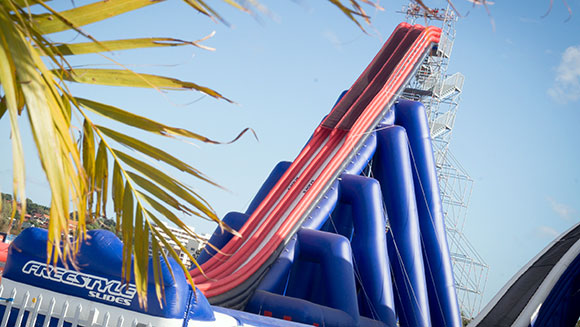 Enormous inflatable drop water slide in Australia is named tallest in the world