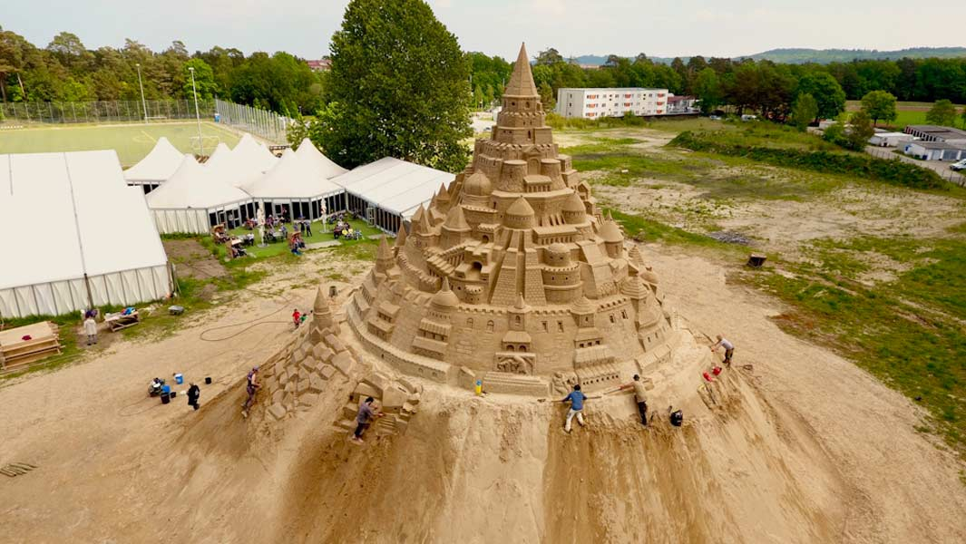World's tallest sandcastle finally achieved after two years of trying