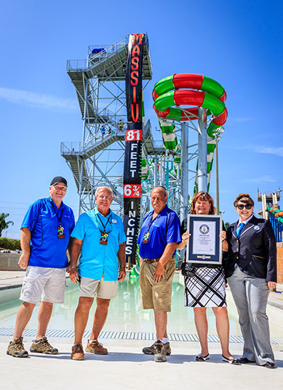 Tallest water coaster Certificate presentation