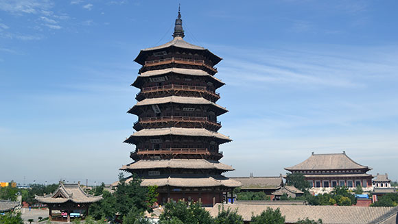 Guinness World Records awards record certificate for towering wooden pagoda in China