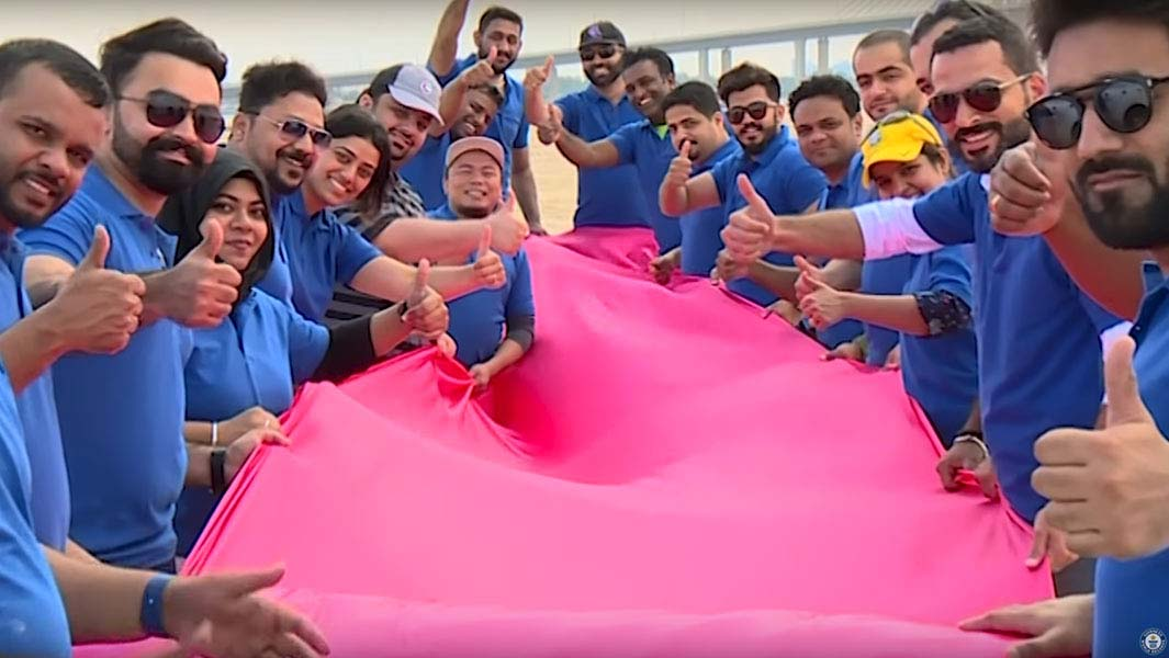 Huge 4-km ribbon created in Abu Dhabi for Breast Cancer Awareness Month