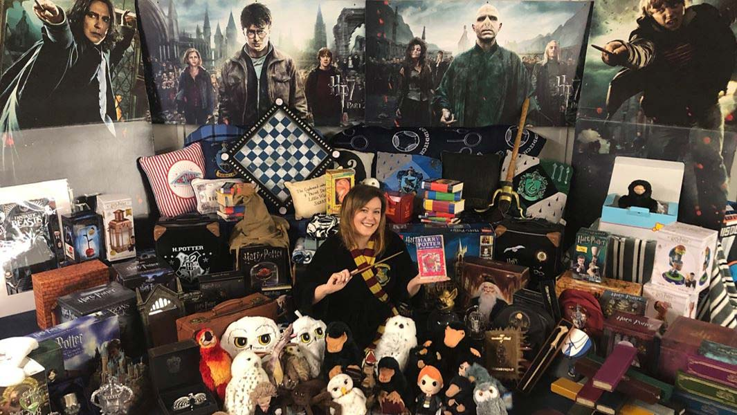 Harry Potter and Fantastic Beasts superfan has world's largest Wizarding World collection