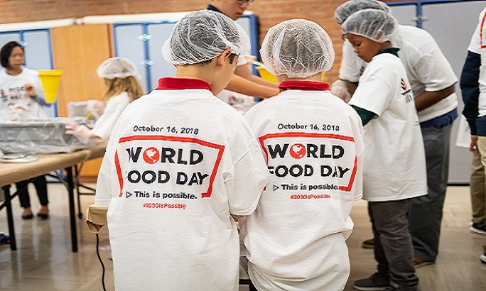 World Food Day Rise Against Hunger NYC attempt