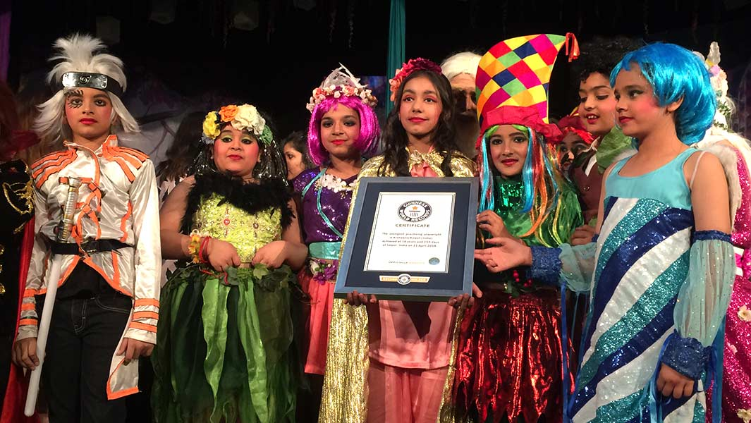 Ten-year-old girl from India becomes the world's youngest practising playwright