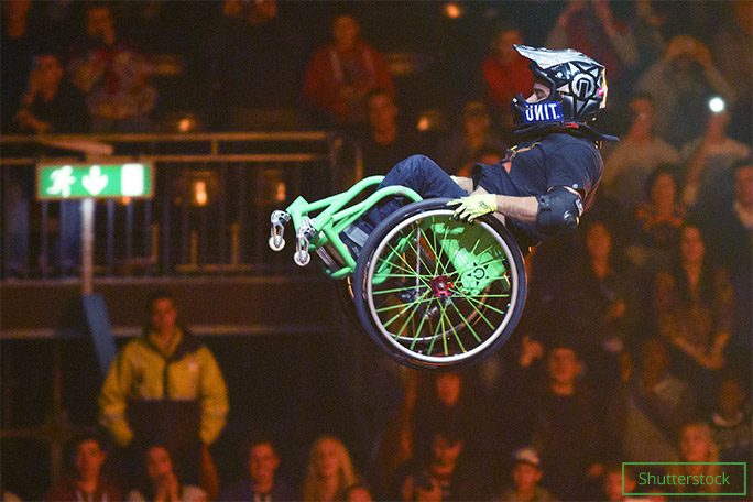 Aaron is now a member of travelling stunt troupe Nitro Circus