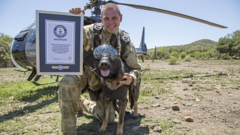 First skydiving anti poaching dog 2