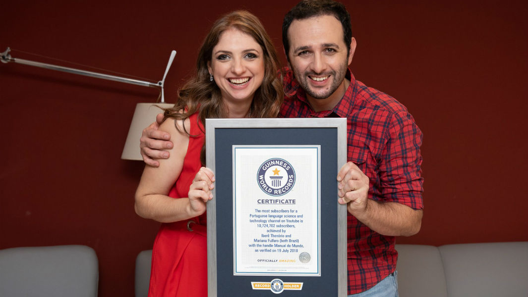 Creators of YouTube channel Manual Do Mundo celebrate 10th anniversary with first Guinness World Records title