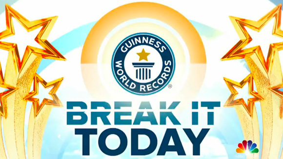 Fun-packed week of record attempts on NBC's #BreakItTODAY kicks off with a slam dunking achievement