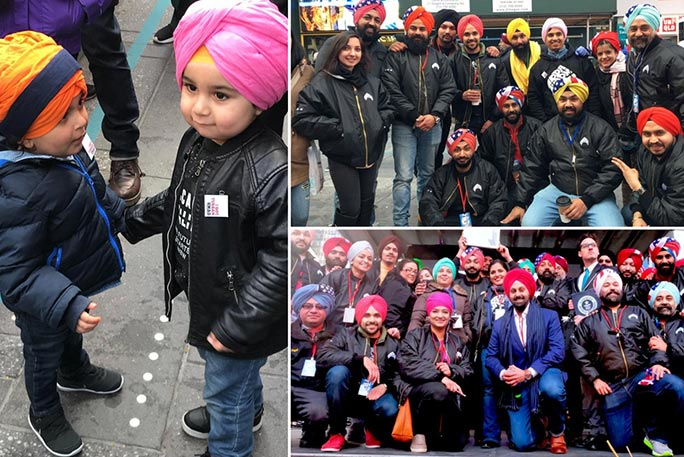 Sikhs of New York turban tying collage