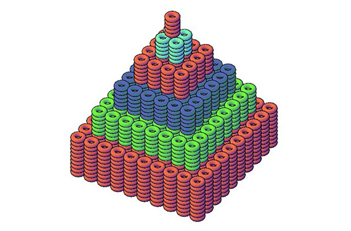 A computer generated image of the doughnut stack