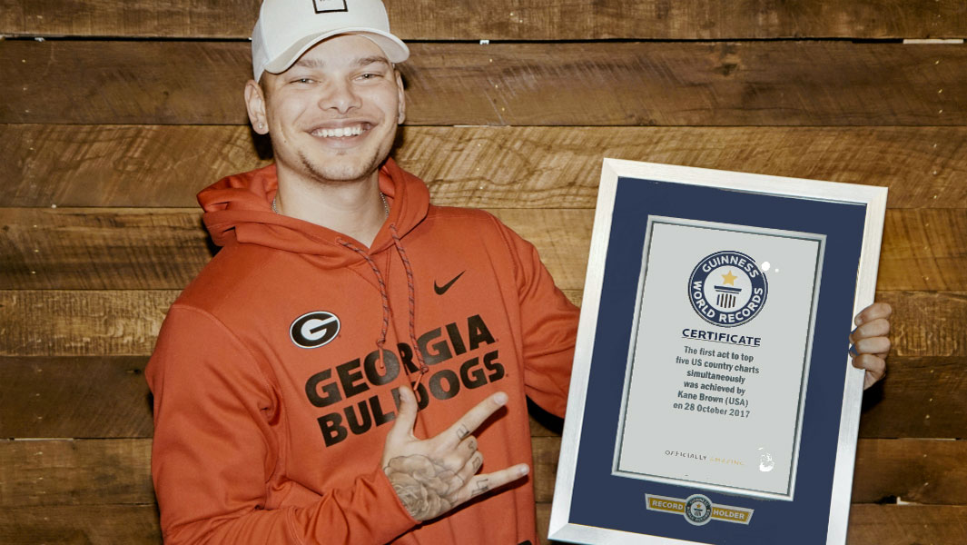 Country music star Kane Brown earns record for his chart-topping success