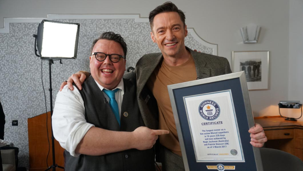 Hugh Jackman surprised with record title to mark 16-year Wolverine career