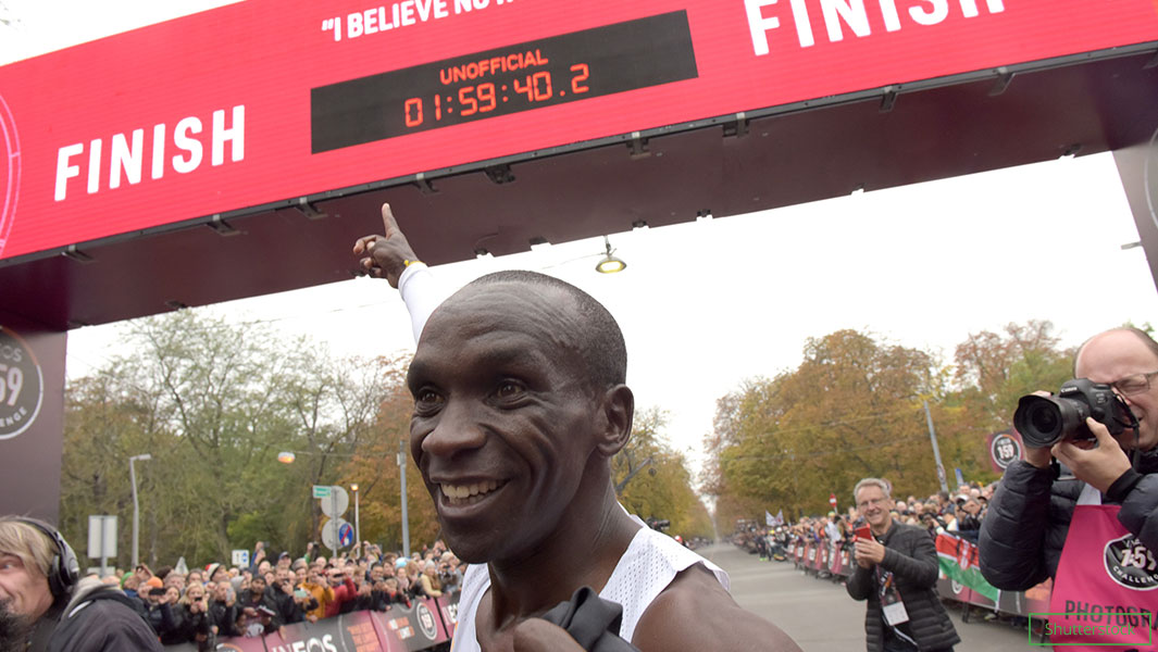 How marathon records have improved as Eliud Kipchoge becomes first person to run distance in under two hours