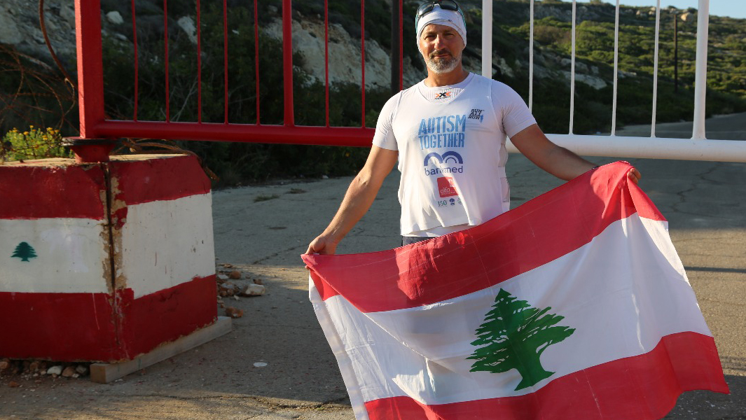 Adventurer runs across Lebanon and dedicates his record to people with autism