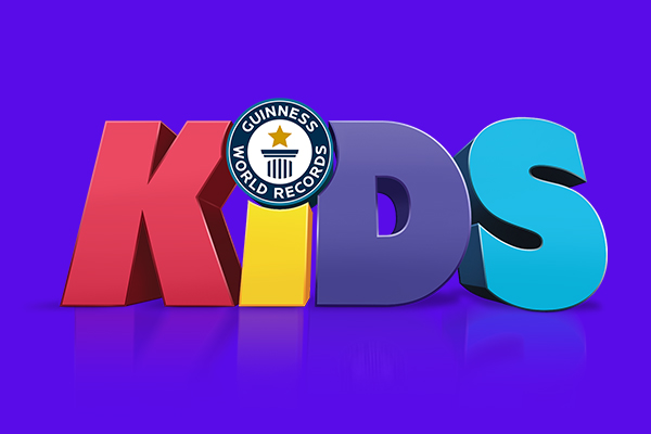 guinness world records kids logo on purple background