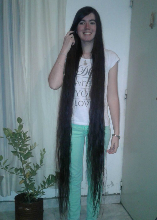 Longest hair on a teenager