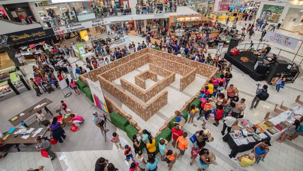 Maze created as one million crayons are donated to help teachers and children