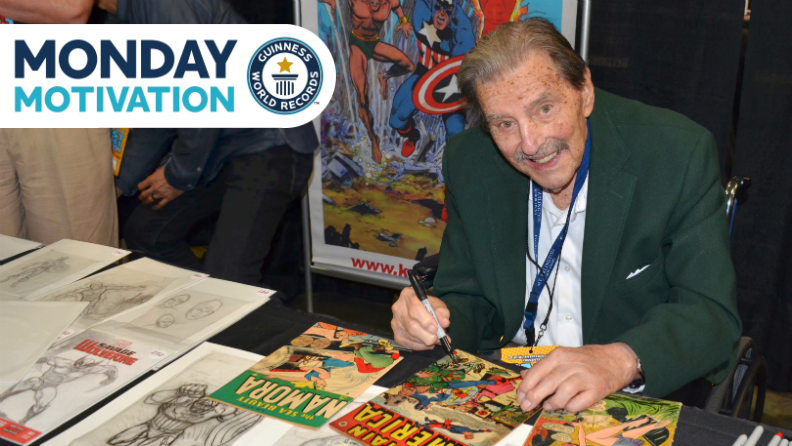 Monday Motivation: How Ken Bald is still bringing comic book heroes to life at 96
