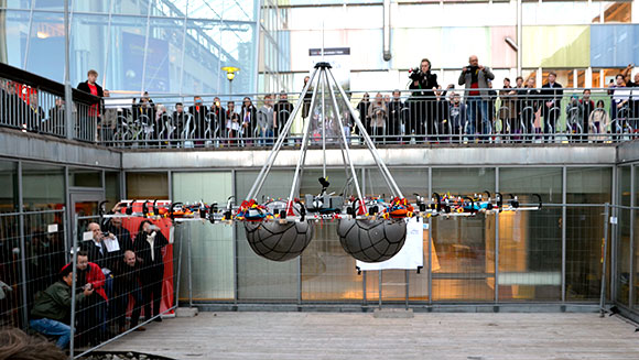 Video: Giant multicopter drone that could lift weight of a human adult flies into record books